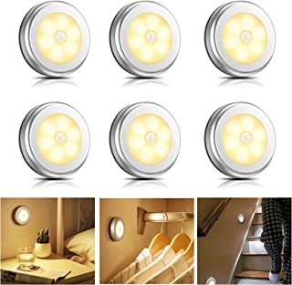 Eocean Motion Sensor Light Indoor, LED Closet Light without Wiring,Battery Operated Lights, Motion Light Perfect for Stair...