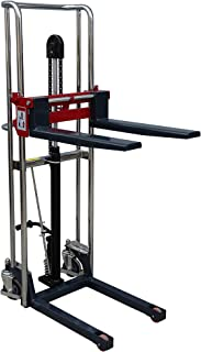 Pake Handling Tools - Manual Fork Type Stacker, 880 lbs Capacity