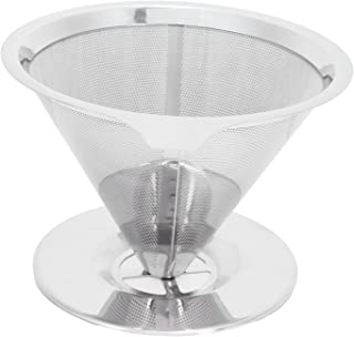 Coffee Dripper, Reusable Coffee Filter Cup Funnel Cup Washable Stainless Steel for Coffee Machine for Drip Coffee