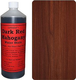 Littlefair's Niet-giftige houtvlek op waterbasis - 2.5ltr donkerrode mahonie houtverf voor binnenhout inclusief deuren en ...