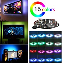 LinkStyle LED TV Bias Lighting Backlight Strip Multi Color RGB Changing Color Strip Kit RGB Tape For Flat Screen TV LCD HDTV Monitors Background Light USB Powered(2 Pack)