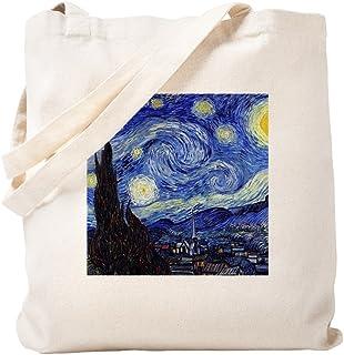 CafePress Starry Night by Vincent Van Gogh Tote Bag, canvas, khaki, Größe S