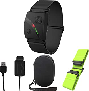 Scosche Rhythm 24 Bundle - Including Rhythm 24, Charge Case, Green Replacement Strap, and Extra Charger
