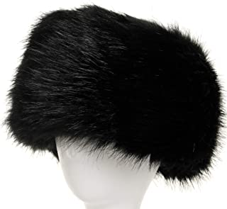 2c5b717580447 La Carrie Women s Faux Fur Hat for Winter with Stretch Cossack Russion Style  White Warm Cap