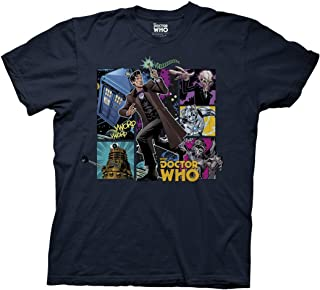 Doctor Who Comic Doctor Composition Adult T-Shirt