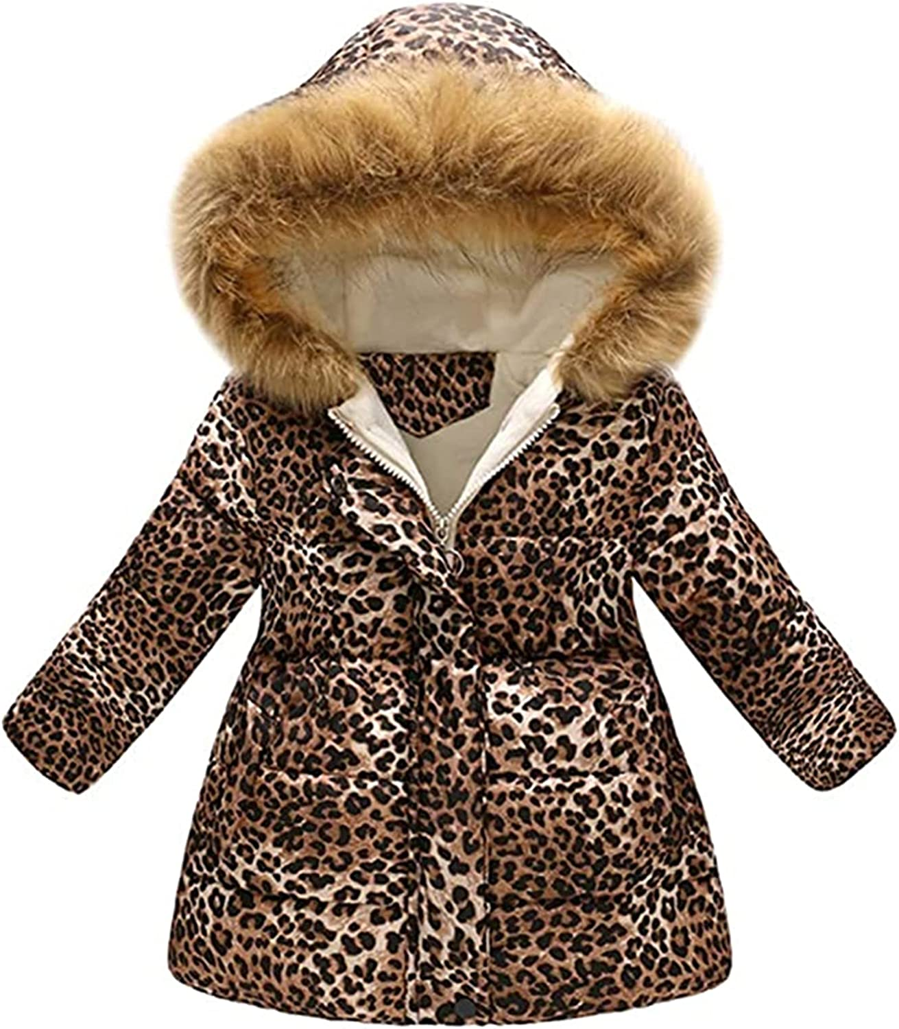 QINYI Today's only Toddler Baby Girl Boy Hooded Opening large release sale Windproof Warm Floral Jacket