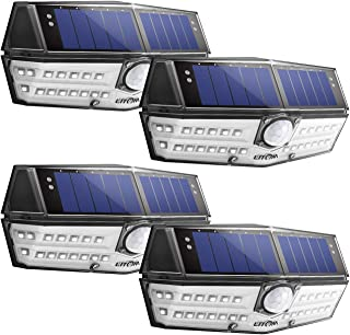 LITOM Premium Solar Lights Outdoor with 270°Wide Angle...