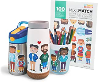 My Family Builders Mix & Match Diversity Stickers for Kids and Families – Build Little People Stickers to Promote Cultural...