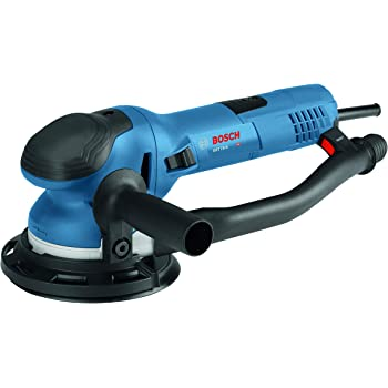 "Bosch Power Tools - GET75-6N - Electric Orbital Sander, Polisher - 7.5 Amp, Corded, 6"""" Disc Size - features Two Sanding Modes: Random Orbit, Aggressive Turbo for Woodworking, Polishing, Carpentry"