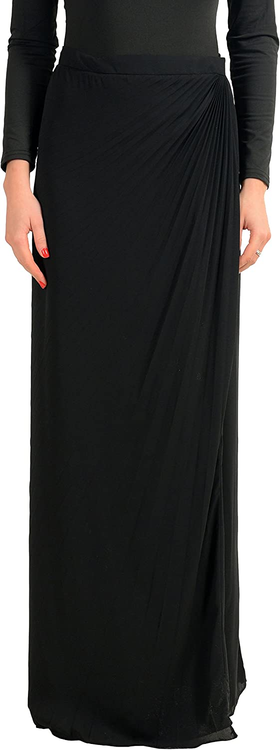 MAISON MARGIELA 4 Black Women's Wrapped Maxi Skirt