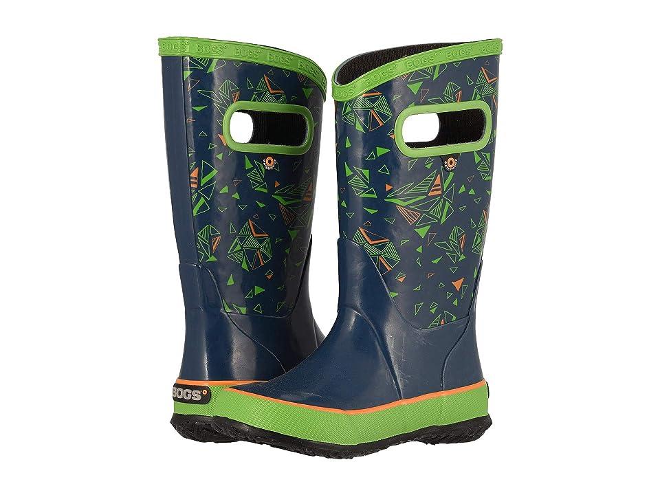 Bogs Kids Rainboot Trigeo (Toddler/Little Kid/Big Kid) (Dark Blue Multi) Boys Shoes