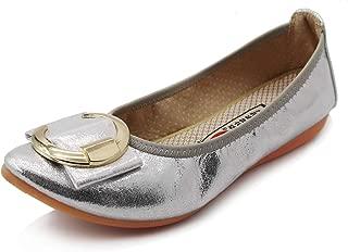 Amazon.co.uk: Silver Ballet Pumps & Flats Flat Shoes