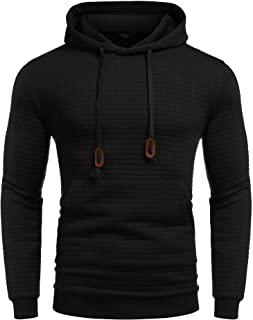 Coofandy Men's Back Lace up Hip Hop Style Long Sleeve Pullover T Shirt