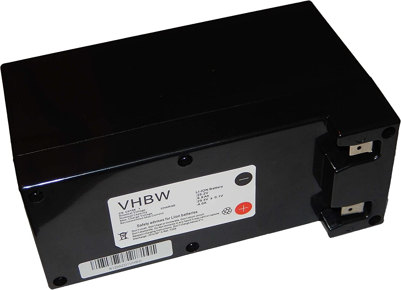 vhbw Batería Li-Ion 6900mAh (25.2V) para robot cortacésped Ambrogio L30, L50, L60, L75, L85, L100. reemplaza Zucchetti Centro Sistemi CS-C0106-1