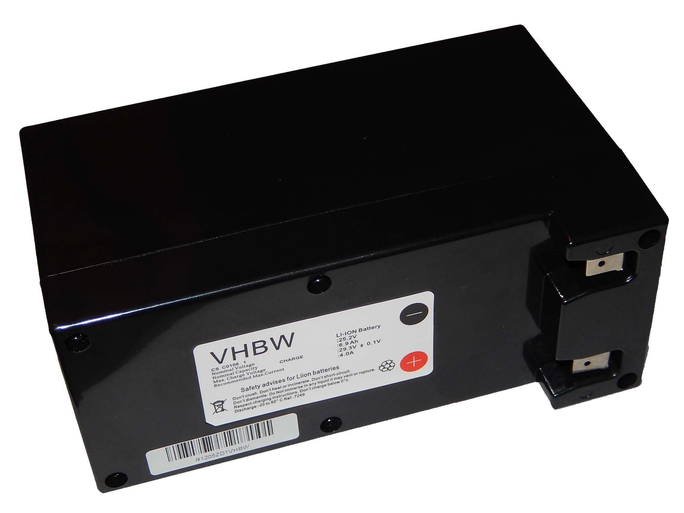 para Robot cortac/ésped Ambrogio L200 Deluxe 1B 25.2V L200 Deluxe 2B reemplaza Zucchetti CS-C0106-1. vhbw Bater/ía Li-Ion 6900mAh