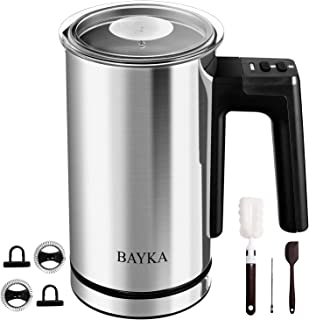 BAYKA Electric Milk Frother with Hot & Cold Automatic Function, Milk Steamer, Foamer, Heater, Frother & Warmer For Coffee Espresso, Cappuccinos, Lattes, Hot Chocolate Maker