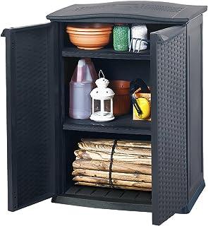 comprar comparacion Keter - Cobertizo mini, 2 estantes ajustables, carga por estante 20 kg,
