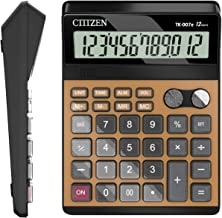 Electronic Calculator,Voice Calculators AA Battery Calculator (Black and Gold)