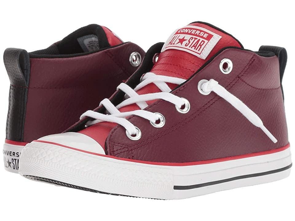 Converse Kids Chuck Taylor All Star Street Mid (Little Kid/Big Kid) (Dark Burgundy/Enamel Red/White) Boy