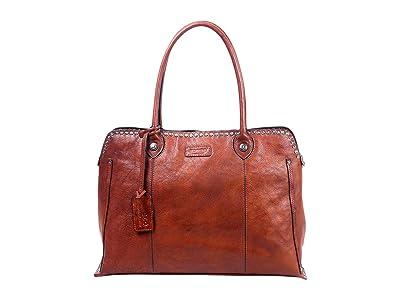 Old Trend Genuine Leather Soul Stud Satchel Bag