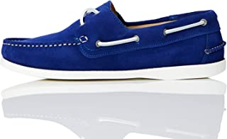 find. Amz038_Leather, Chaussures Bateau Homme