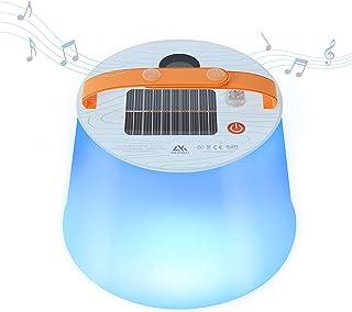 Solar Camping Lantern, AKASO 2000mAh Power Bank IP66...