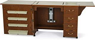 Arrow 350 Norma Jean Sewing Cabinet for Sturdy Sewing, Cutting, Quilting, and Crafting with Storage and Airlift, Oak Finish