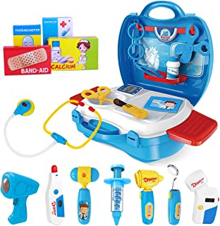 iBaseToy Doctor Kit for Kids, 27Pcs Pretend Medical Doctor Medical Playset with..