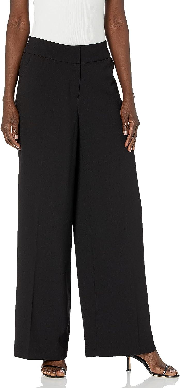 Tahari ASL Women's Wide Leg Pant with Elastic Back
