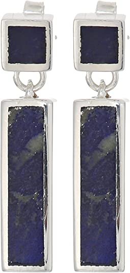 Shinola Detroit - Cass Inlay Drop Earrings With Lapis