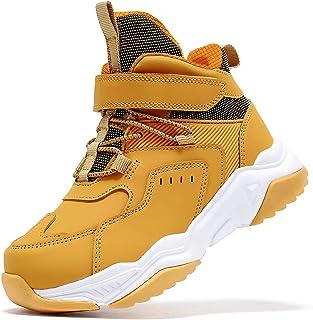 Kids Hiking Boots Boys Girls Outdoor Walking Climbing Sneaker Comfortable Non-Slip Snow Shoes Hiker Boot Antiskid Steel Bu...
