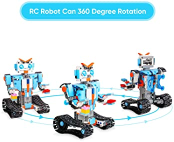 Sillbird STEM Building Blocks Robot for Kids- Remote Control Engineering Science Educational Building Toys Kits for 8...