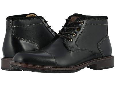 Florsheim Vandall Cap Toe Lace-Up Boot (Black Leather) Men