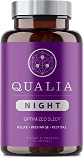Sponsored Ad - Qualia Night | Enhance Natural Sleep for Adults | Support Deep Refreshing Sleep, Recovery, and Brain Perfor...