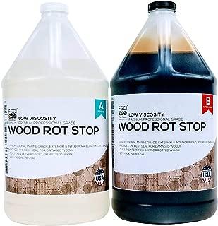 ROT STOP EPOXY RESIN, 2 Gallon Kit, Fiberglass Coatings, Inc., PETRIFIED WOOD HARDENER, Boat Interior Decking, DIY Wood Restoration, Home Improvement