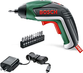 Bosch Cordless Screwdriver IXO V Basic Set (Integrated Battery, 3.6 Volt, 10 Screwdriver Bits, Micro USB Charger Included,...