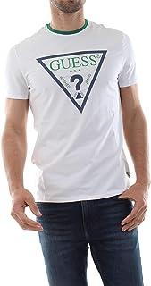T Shirt Guess Uomo Grigia Maglietta Manica Lunga Girocollo
