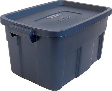 Rubbermaid 14 Gal Pack of 6 Roughneck? Storage Totes Durable, Reusable, Set of Plastic Storage Bins