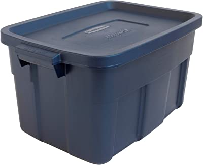 Rubbermaid 14 Gal Pack of 6 Roughneck️ Storage Totes Durable, Reusable, Set of Plastic Storage Bins