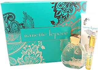 Nanette Lepore Gift Set (Eau De Parfum Spray 3.4 Oz + 0.34 Oz. Body Lotion 6.8 Oz.) for Women, 3.4 Fl Oz