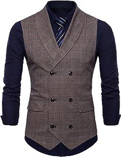 (ジュエシャンジ) Jueshanzj スーツ ベスト ビジネス チェック メンズ