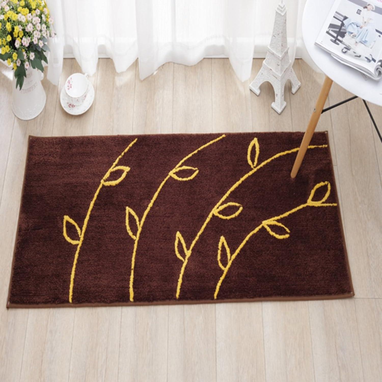 DXG&FX Brown stain-resistant mat kitchen bathroom water absorbent non-slip mat indoor mats-A 60x160cm(24x63inch)