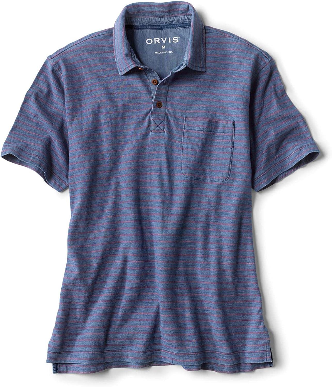Orvis Men's Indigo Stripe Polo