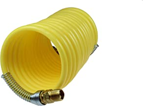 Coilhose Pneumatics N12-50B Coiled Nylon Air Hose, 1/2-Inch ID, 50-Foot Length with (2) 1/2-Inch Swivel Fittings