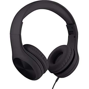 New! LilGadgets Connect+ PRO Kids Premium Volume Limited Wired Headphones with SharePort and Inline Microphone (Children) - Black