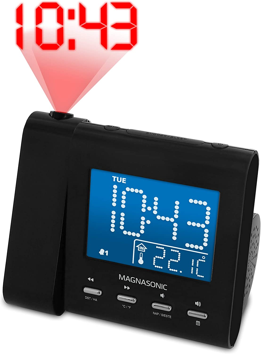 Magnasonic Projection Alarm Clock with price Sales for sale Radio Back AM Battery FM