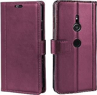 Sony Xperia XZ3 ケース 手帳型 耐衝撃 カード収納 横置き機能 全面保護 内側TPU 財布型 カードポケット付き マグネット式 人気 SO-01L SOV39 801SO 保護カバー レッド