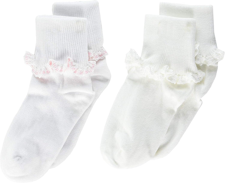 Jefferies Socks Baby Girl's Cluny & Satin Lace Comfort Toe Multi 2-Pack (Infant/Toddler/Little Kid/Big Kid)