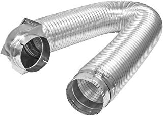 Builder's Best 011718 All Metal SAF-T-DUCT Single Elbow Dryer Vent Duct Kit, UL Listed, 4