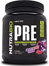 NutraBio PRE Workout V5 - Grape Berry Crush